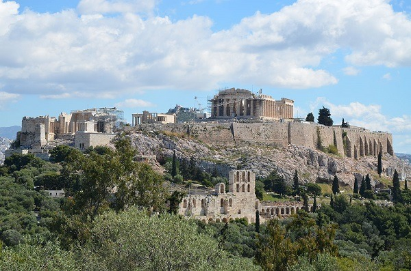 A view of the Acropolis